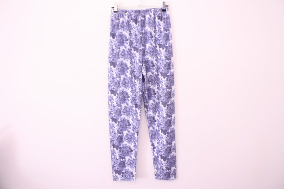 90s Floral High Waisted Leggings
