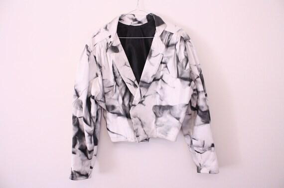 ONE OFF 80s Tie Dye Leather Jacket