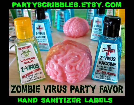 Items similar to Zombie Apocalypse Favor Labels for the Walking Dead ...