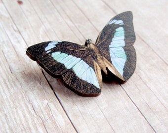 Blue Woodland Butterfly Brooch
