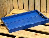 Reclaimed Pallet Wood - Rustic Blue Serving Tray