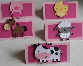 12 Girl Farm treat bag toppers, Farm Birthday, Girl Farm Party, Barnyard Birthday, Goody Bags, Paper Goods, Farm Decor, Farm Favors, Farm