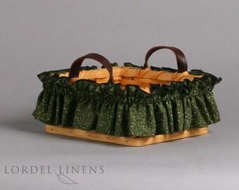 Green Scroll Basket Garter