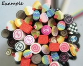 20 pcs - Assorted Grab Bag Collection (2.5cm long) - Nail Decoration Scrapbooking Fruit Fimo Cane - Polymer Clay Cane