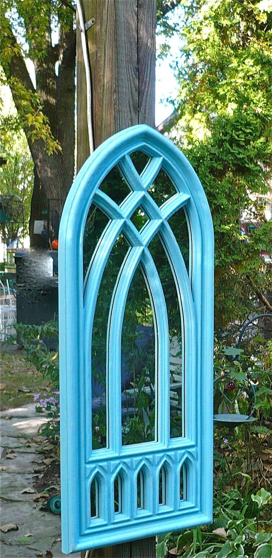 Reproduction Gothic Church Window Mirror