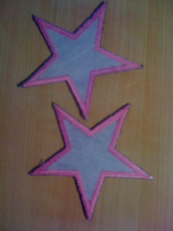 Iron on pink and grey stars a from splashofluv etsy