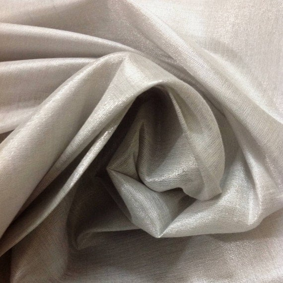 Silk fabric - cotton silk - silver silk fabric -mat finish plain fabric for people with rich taste