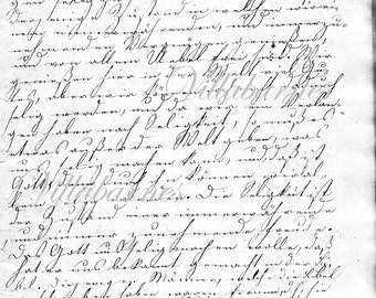 Handwriting from 175 Year Old German Diary, 1838 Page, No2