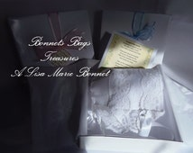 Heirloom Baby Bonnet is made from a Handkerchief with 100% Linen center and Bridal Lace Magic Hanky Bonnet Wedding Hanky Keepsake Bonnet