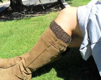 Brown  Boot Cuffs--Vegan Value