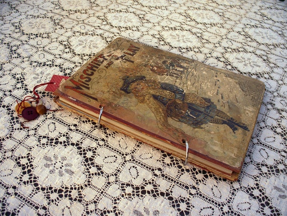 UP-cycled Recycled Handmade Journal Blank Pages Travel Journal Blank Book Guest Book
