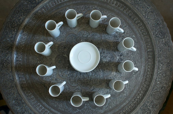 Set of 12 Lagardo Tackett Architectural Pottery Demitasse - Eames Era