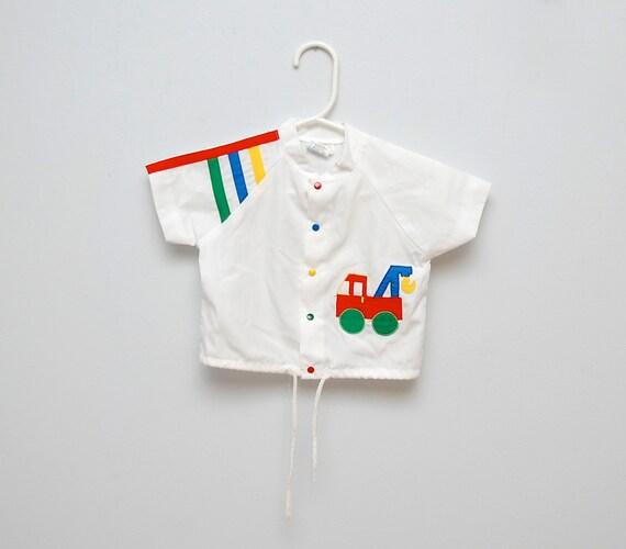 Vintage 1980s baby truck shirt/jacket