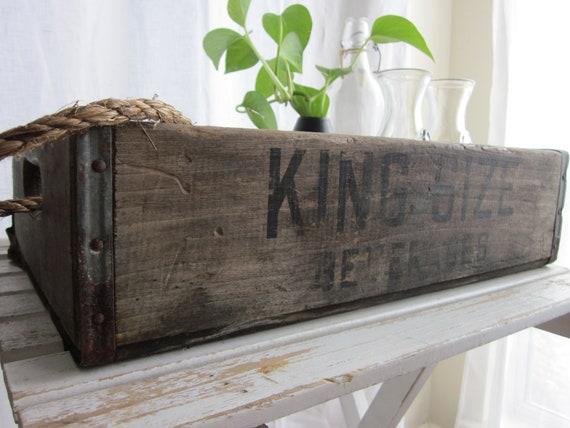vintage wooden bartons beverage/soda crate norfolk, va