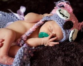 Crochet Owl Ear Flap Hat