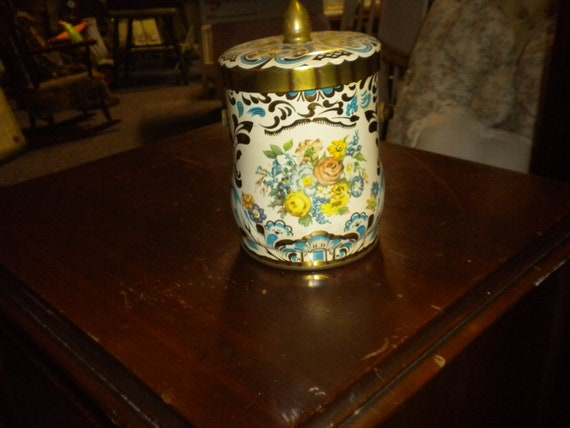 Vintage Flowered Tin,French Country,Shabby Chic,French,Victorian,Eclectic