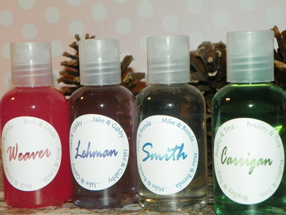 Hand Sanitizer, Shower Gel, Lotion - Our Family Name (Set of 4)