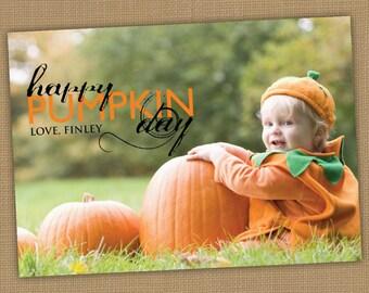 Halloween Photo Card. Happy Pumpkin Day