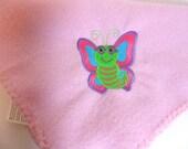 Butterfly Baby  Bedding -Newborn Fleece Blanket - Infant Baby Blanket - Bassinet Blanket - Swaddling Cloth- Fleece Crib Blanket - Woobie