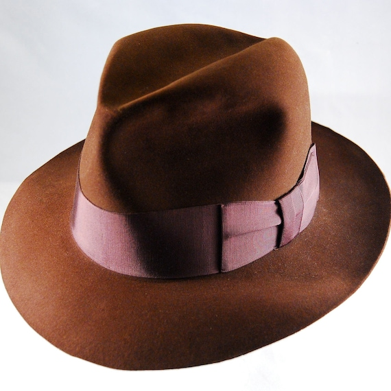 Resistol Beaver 15 Kitten Finish Brown Fedora NOS with tags 7 3/8 Reserved for Blackthorn.
