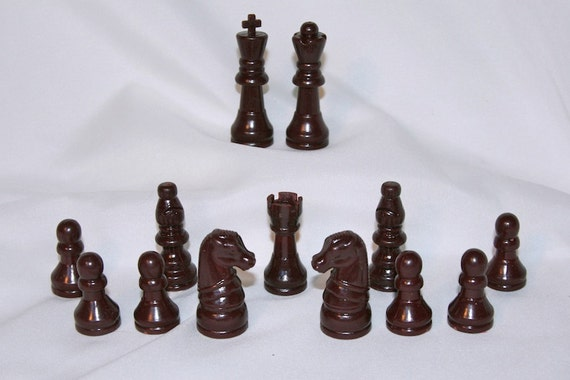 Vintage Staunton Style Chess Pieces 13 By Janeeleanorspicks