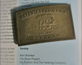 Authentic- Faux Wells Fargo Belt Buckle