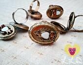 Owl LOCKET rings