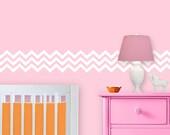 Chevron Wall Decal - Zig Zag Decal for Baby Room - Nursery