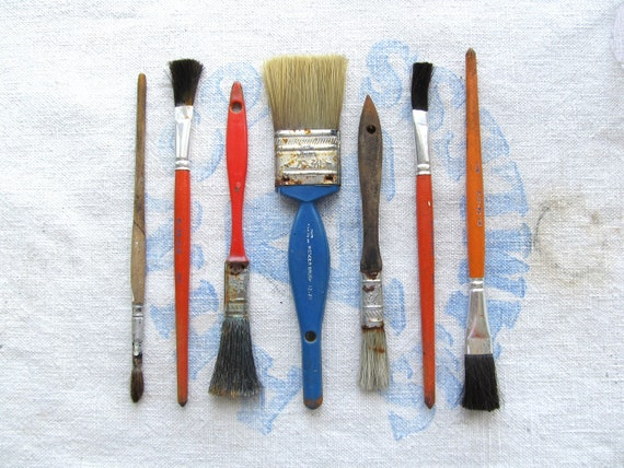 Vintage Small Paint Brushes Instant Collection