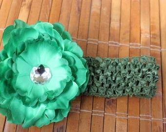 Green Crystal Peony Flower