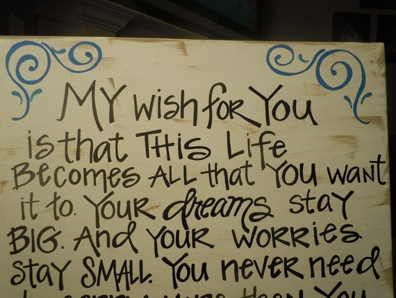 Rascal Flatts quote hand-painted on canvas