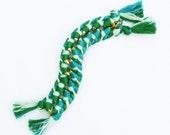 Custom Double Sided Braided Chain Bracelet