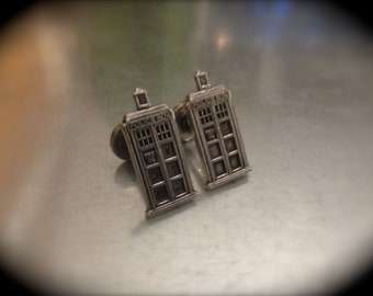 Inspired UK Police Phone Booth Cuff Links