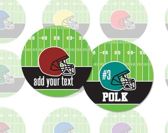 Editable FOOTBALL HELMET - 4x6 - 1 Inch Circle Editable PDF Digital Collage Sheet for Pendants, Magnets and More (Instant Download No.1333)