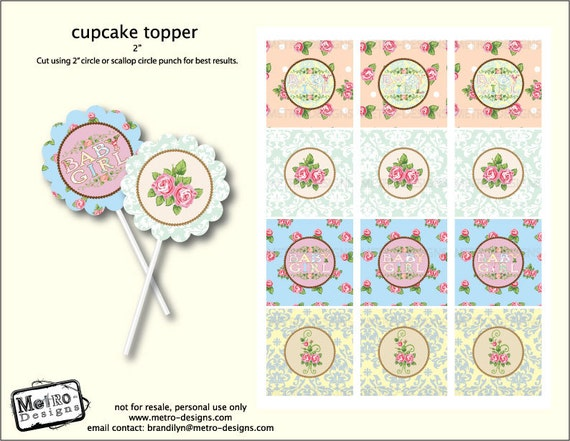 Instant Download - Shabby Chic Baby Shower