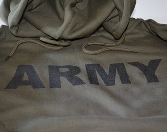 ARMY Hoodie Military Sweatshirt with Hood Father's day Gifts for Men New Screenprint Army Sweater Present for Boyfriend or Husband