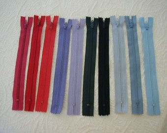 10 Zippers - NEW - Great for Many Projects