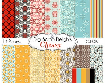 Classy Scrapbook Paper for scrapbooking, card making, photographers, photo cards: Instant Download