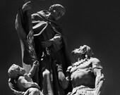 Padre Garcés 8 x 12 fine art print 8 x 12 catholic church statue 8 x 12 black and white 8 x 12 wall art