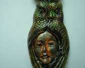 Native American Inspired Owl Animal Totem Necklace