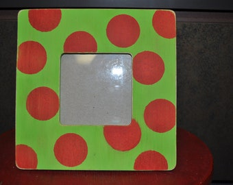 Red and Green Polka Dotted Frame