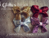 Sparkle Mini Bows- Set of 4