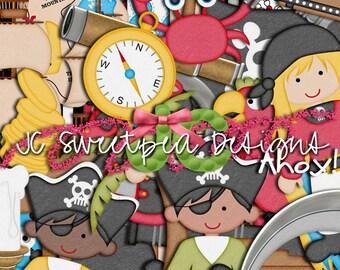 Ahoy Pirates Digital Scrapbooking Kit