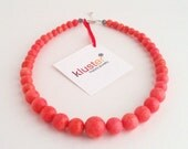 Coral Necklace by Kluster. Pink Necklace. Orange Necklace. Red Necklace. Orange Coral. Salmon Necklace. Pink Coral Necklace. Graduated.