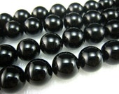 high quality Black Onyx round  bead 14mm 15 inch strand