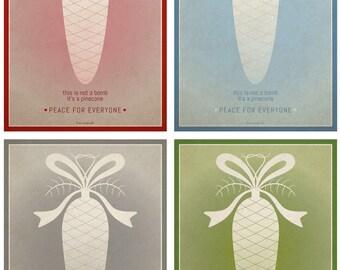 pop life postcards - the pinecone christmas set
