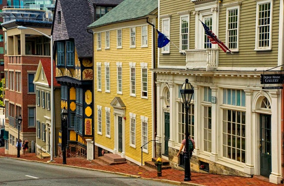 Historic Street and Buildings, Providence, Rhode Island, 8 x 12 photo print