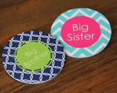 Big Brother Big Sister Button Pin