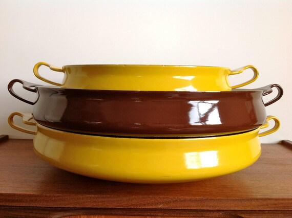 Vintage Dansk Large Kobenstyle Paella Pan Brown
