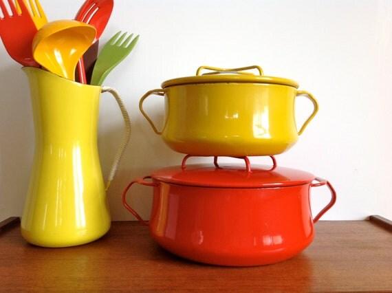 RESERVED FOR KALI Dansk Kobenstyle Small Pot Dutch Oven Yellow